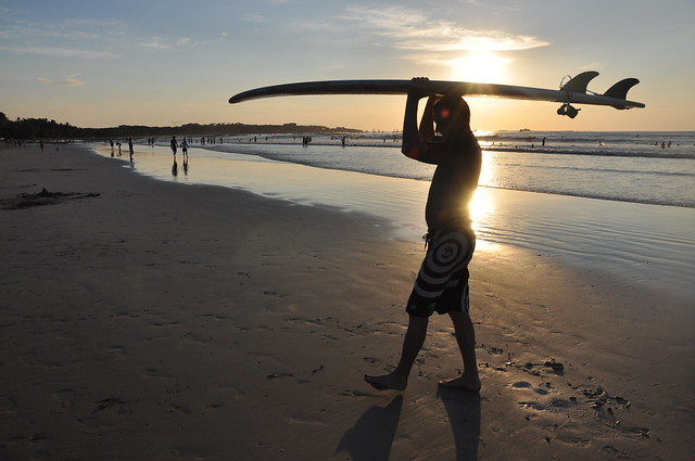 Surfers at Playa Tamarindo