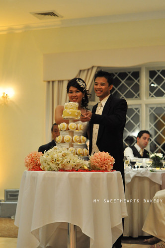 Wedding Cake, cupcakes and cookies