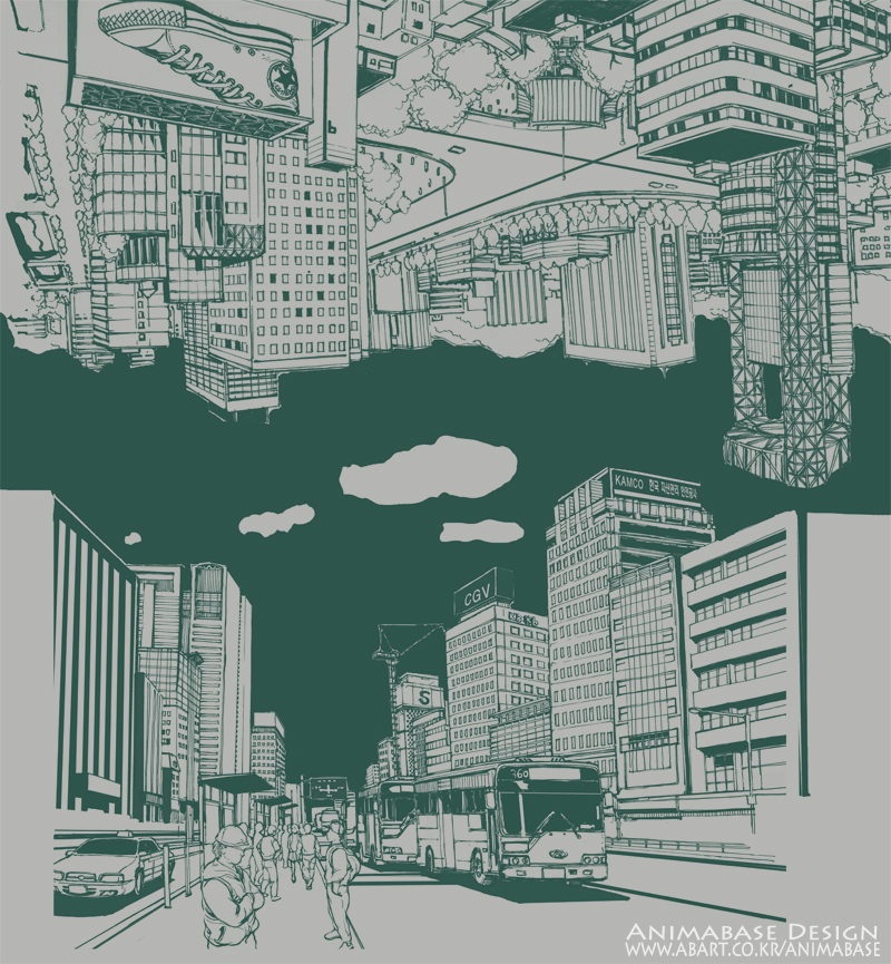 (illustration) Reverse city