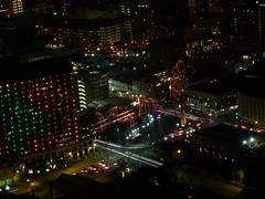 Downtown San Antonio at night from the Tower of the Americas (basteagow) Tags: skyline night sanantonio downtown texas view observationdeck toweroftheamericas 78205