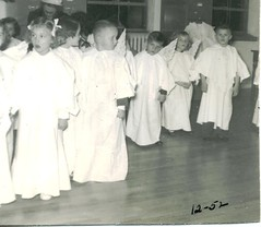 Kindergarten Angels at St John School in Seward, Nebraska, in 1952