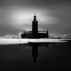City Hall (Maria Stromvik) Tags: longexposure sea snow ice water frost cityscape sweden stockholm cityhall ceremony balticsea prize nobel stadshuset stersjn nobelprize mlaren laureate ndfilter nd110 bwnd110