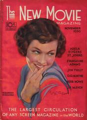 November 1930, Maureen O'Sullivan (Amy Jeanne) Tags: november vintage magazine movie 1930s ephemera 1930 newmovie maureenosullivan