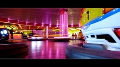 lucky 7 (JimWicks) Tags: light blur colour ride fairground bumper amusements dodgems bumpercar lighttrail lx3