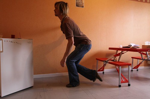 Exercising in the apartment in Givet...