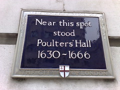 Photo of Poulters' Hall blue plaque
