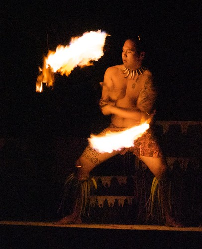 Fireknife Dancer at Kona Village Resort