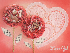 LoveYa-1 (wonderfully complex) Tags: flowers heart handmade valentine card stitching stamping