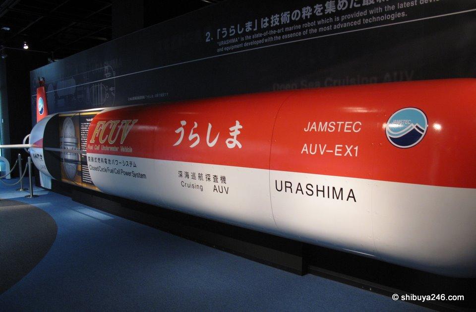URASHIMA is Mitsubishi's marine robot.