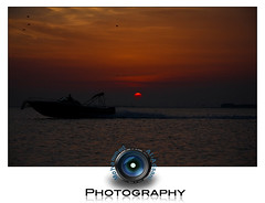 .. / (Mohammed Al-Adsani ) Tags: sunset red sea sun moon beach night jan half  orang 2010 halfmoon           aladsani  adsani