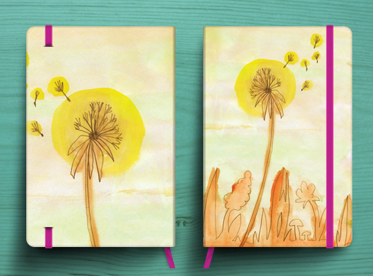 Dandelion Notebook cover