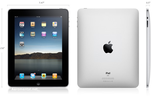 iPad Size and weight