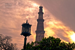 "Sunset at Qutab Minar • <a style=""font-size:0.8em;"" href=""http://www.flickr.com/photos/26632545@N08/4310958462/"" target=""_blank"">View on Flickr</a>"