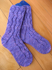 Waving Lace socks