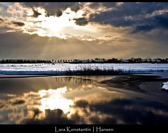January (LaRa K-H) Tags: winter sun snow holland ice water netherlands clouds landscape sneeuw nederland noordholland ijs purmerend larakonstantinhansen