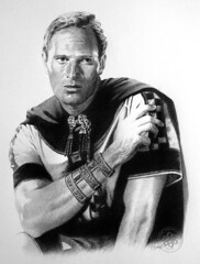 Charlton Heston (pbradyart) Tags: portrait bw art pencil movie star sketch artwork drawing pencildrawing benhur charltonheston filmstardrawing charltonhestonportrait charltonhestonpencildrawing