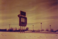 (popp_art) Tags: 35mm illinois pinhole westdundee santasvillage redscale holga135pc