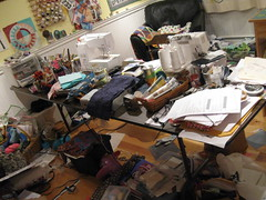 my sewing space is a mess... AGAIN!!!