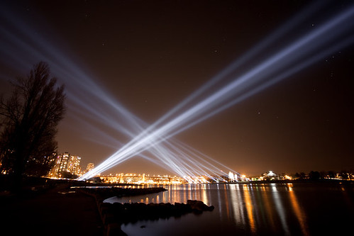 Vectorial Elevation Light Show in English Bay