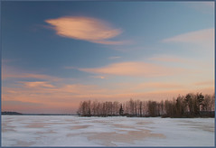 Amazing cloud (photopotam) Tags: morning blue winter sky cloud lake snow cold ice nature ecology sunrise wonderful landscape outdoors dawn early amazing nikon frost russia horizon atmosphere surface calm silence environment rise russian stratus calmness d80