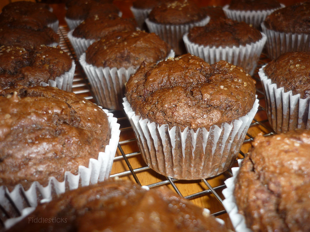 Chocolate -Chocolate chunk muffins