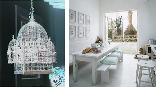 modern rustic kitchen-birdcage