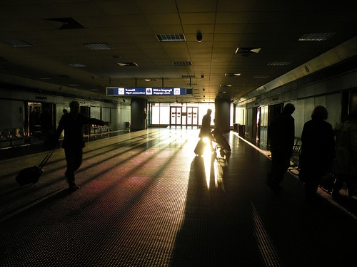 early morning at fiumicino