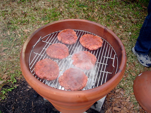 Burgers in the Smoker