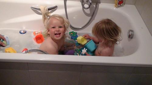 2e kerstdag: met visite in bad