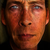 ~ Faded ~ (ViaMoi) Tags: blue canada man art face lines photoshop self design eyes ottawa canadian faded worn viamoi fractilius 3layercombo