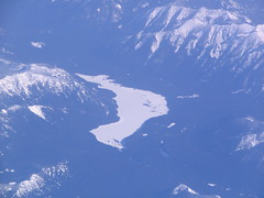 Frozen Lake  from an Airplane (Beauty Playin 'Eh) Tags: snow frozenlake picturesfromtheair picturesfromanairplane
