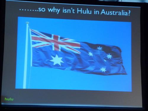 so why isnt't HULU in Australia?