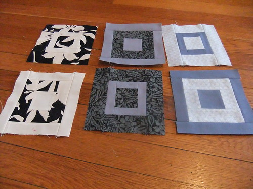 Paintbox quilt along blocks--grey