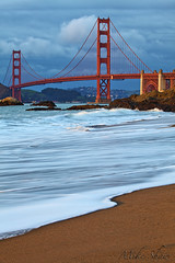 Aperture Academy Nighy Owls Workshop, Baker Beach (2) (M. Shaw) Tags: ocean sanfrancisco california lighting bridge sunset water architecture canon goldengatebridge bayarea bakerbeach 100400mm longexposer ef100400mmf4556lisusm canoneos5dmarkii mshaw 5dmark2