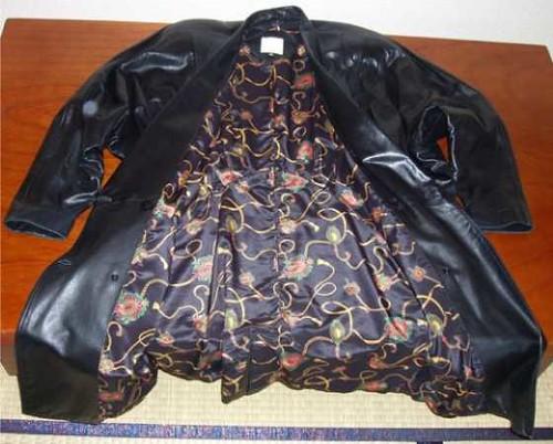 VINTAGE!: 100% ewe leather coat (open) Y250,000