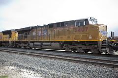 UP 5407 C45ACCTE (knelson27) Tags: train pacific union trains locomotive bnsf c45 p42 c44 mp15
