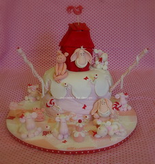 Hope's 3rd Birthday (Dot Klerck....) Tags: pink red girl cake chocolate capetown dot farmanimals southaftrica cupcakesbydesign