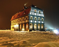 Dom Koodzieja (The wheelwright`s house) (radimersky) Tags: winter house snow building night landscape lumix photography europa europe time dom p