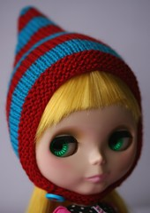 Super Hero Pixie Hat (keyinherpocket) Tags: hat stripes knit pixie ipswich cucu peruvianwool parasoldoll
