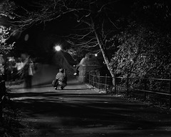 movement (photobug28 (break on through to the otherside)) Tags: nyc people night evening shadows centralpark photographers ghosts d300 photobug28