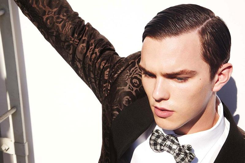 Nicholas Hoult by Tom Ford in Out Magazine