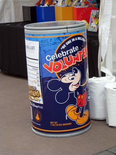 Volunteer Cans all over Epcot