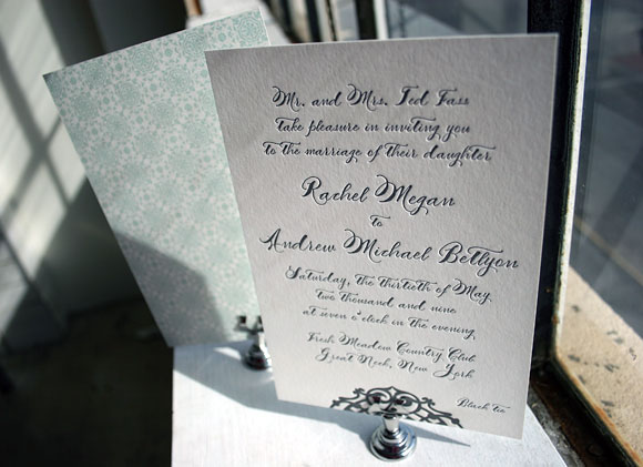 Lashar Letterpress Wedding Invitation by Smock