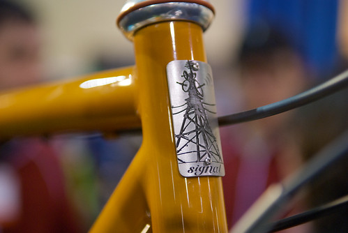 Signal Cycles headbadge, NAHBS 2010 RVA