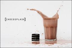 ChocoSplash (Ole Andre Skarbvik) Tags: milk cookie chocolate chocolatemilk splash spill onwhite cookiesplash
