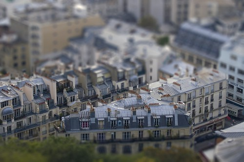 tilt shift Paris