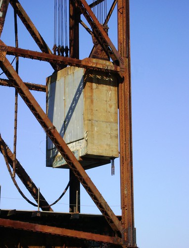 Truss Railroad Lift Bridge over Cedar Bayou, south of Spur 55, Baytown, Texas 0228101513