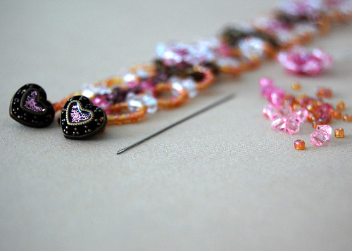 Beaded Bracelet - In Progress