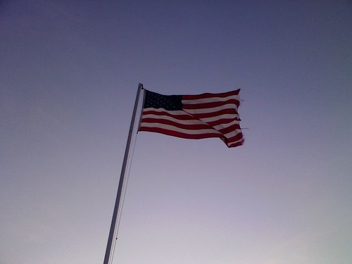 Theres just something I love about an American Flag against a clear blue sky.