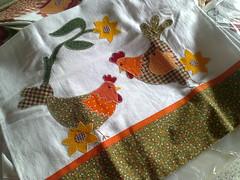 adoro galinhas!!! (Dipano Ateli) Tags: de galinha pano patchwork prato cozinha jogos tecido aplicao apliqu dipano